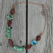 pottery bead necklace