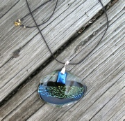 blue fused necklace